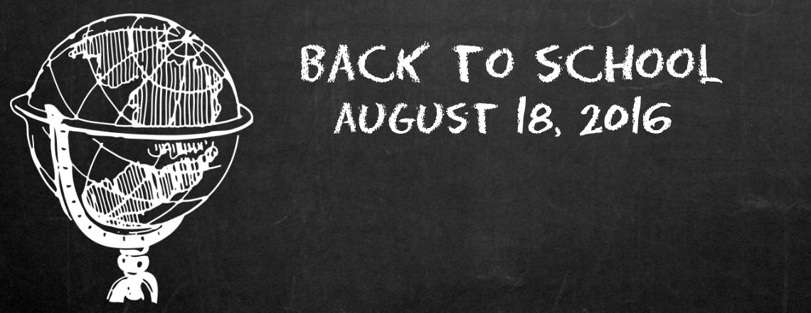 School Begins August 18, 2016