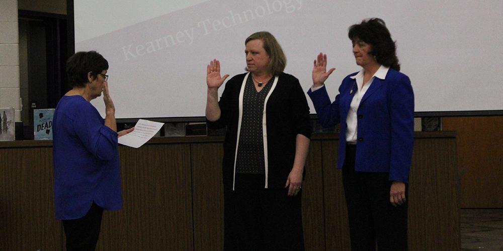 Board members swearing in