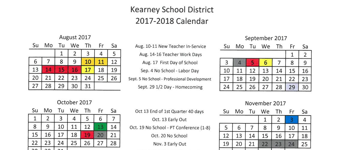 district announces 2017 2018 academic calendar
