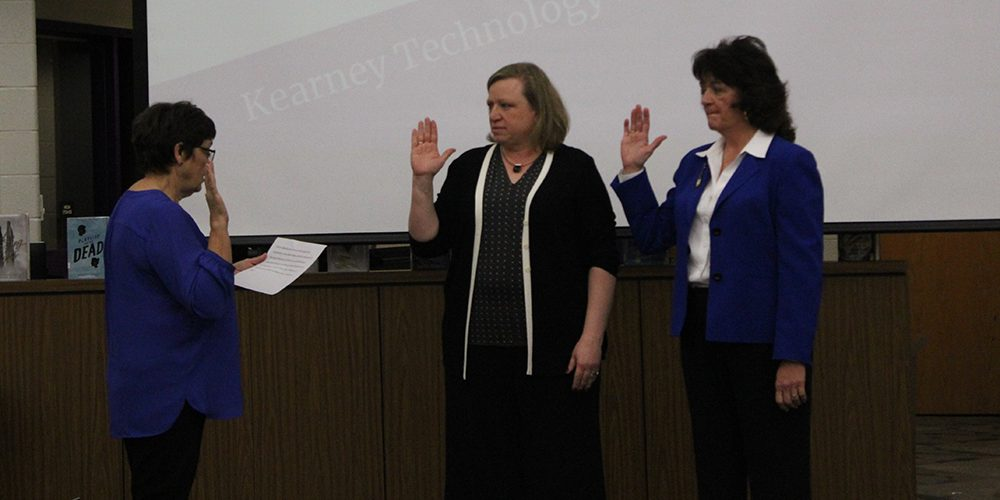 Board members swearing in