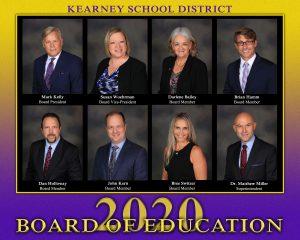 Mark Kelly, Board President; Susan Woehrman, Board Vice-President; Darlene Bailey; Brian Hamm; Dan Holloway; John Kern; Bree Switzer; Dr. Matthew Miller, Superintendent